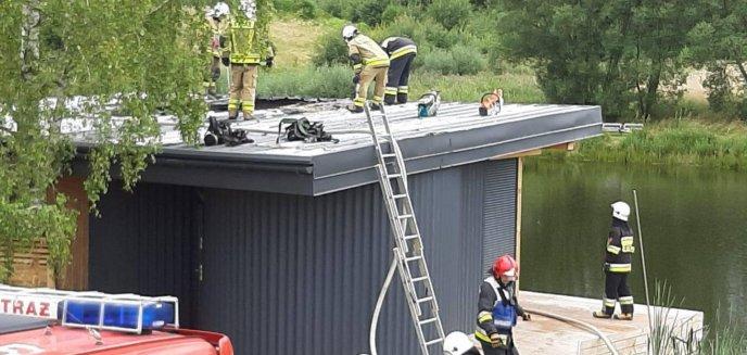 Artykuł: Pożar na terenie luksusowego hotelu pod Barczewem
