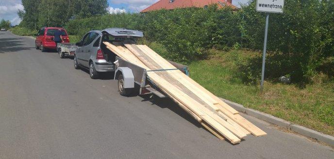 Artykuł: Niecodzienny transport desek w gminie Dywity