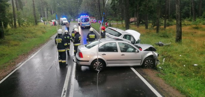 Artykuł: Wypadek na DK 53 pod Olsztynem. Jedna osoba przetransportowana do szpitala [ZDJĘCIA]