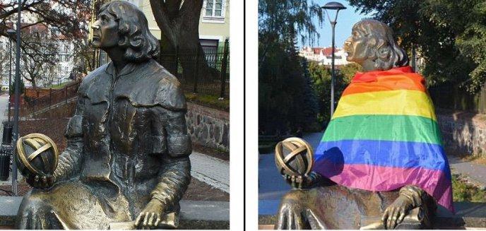 Artykuł: Tęczowy Kopernik w Olsztynie. Działacze LGBT solidaryzują się z aktywistkami z Warszawy