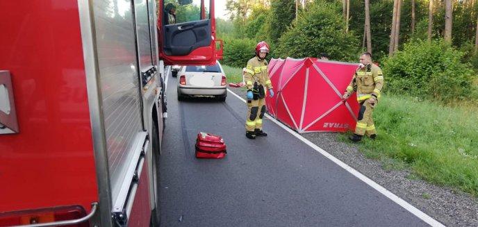 Artykuł: Śmiertelny wypadek z udziałem rowerzystki na DK58 Szczytno-Olsztynek [ZDJĘCIA]
