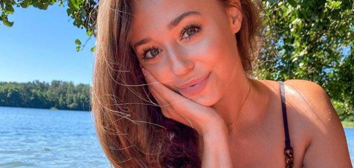 Młoda, pochodząca z Olsztyna gwiazda TVP, Izabella Krzan, opalała się nad jeziorem Ukiel