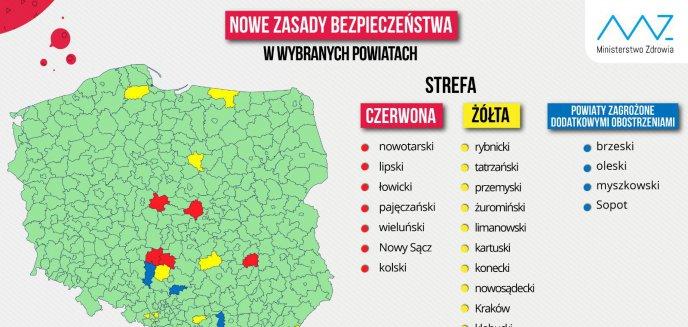 Artykuł: Koronawirus. Pierwszy powiat na Warmii i Mazurach w żółtej strefie! Zmiana zasad kwarantanny