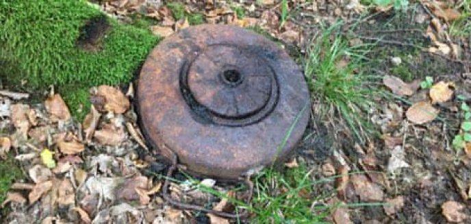 Ktoś ''porzucił'' minę przeciwpancerną w lesie