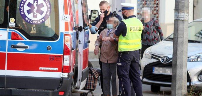 Rowerzysta potrącił 81-letnią seniorkę na ul. Jagiellońskiej w Olsztynie [ZDJĘCIA]
