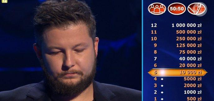 Młody muzyk z Olsztyna w ''Milionerach''. Jaką kwotę wygrał?