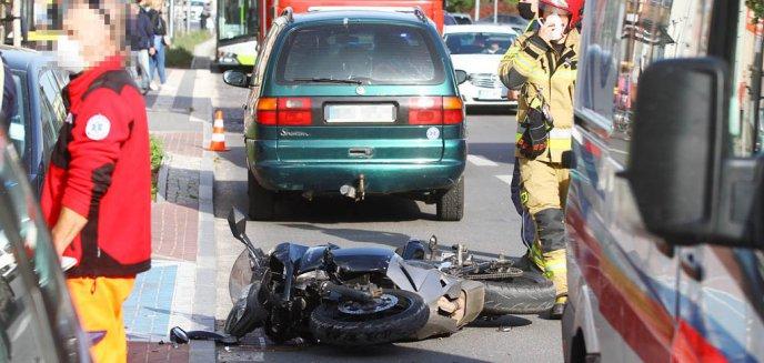 Artykuł: Potrącenie motocyklisty na ulicy Partyzantów w Olsztynie [ZDJĘCIA]