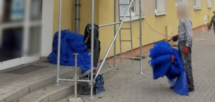 Artykuł: Ustawili na ul. Grunwaldzkiej rusztowanie, które zagrażało pieszym