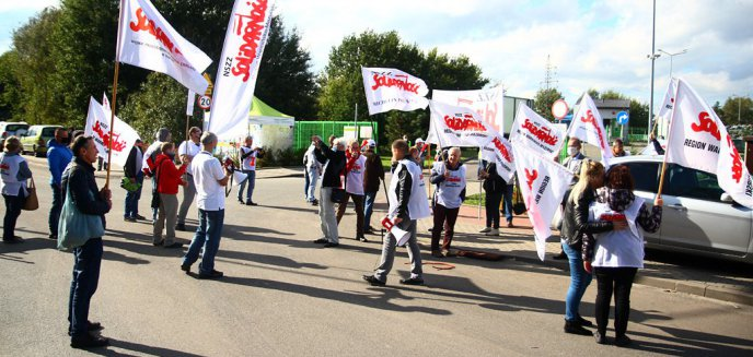 Artykuł: Strajk pracowników ZGOK-u w Olsztynie. Wspierają ich udziałowcy spółki [ZDJĘCIA]