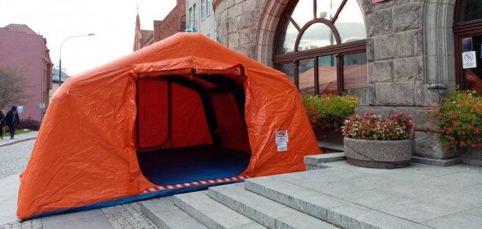 Namioty stanęły przed olsztyńskim urzędem miasta i sądem. Do czego służą?