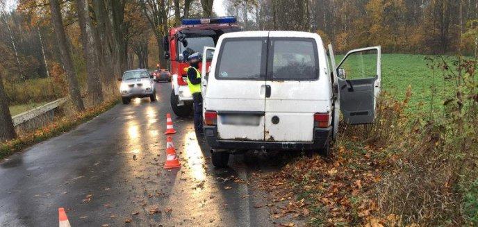 Wypadek na wyjeździe z Olsztyna w kierunku Jonkowa