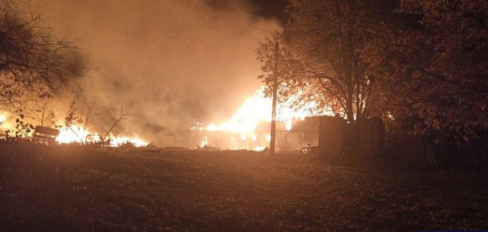 Artykuł: Pożar pod Olsztynem. Policjanci uratowali 84-latka i jego zwierzęta [WIDEO]