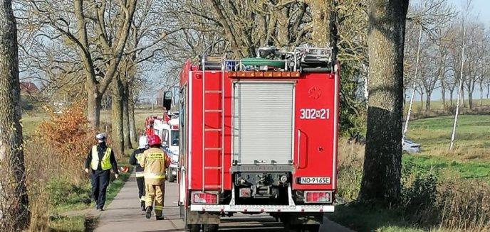 Tragiczny wypadek w gminie Dywity. Nie żyje 78-letni motorowerzysta