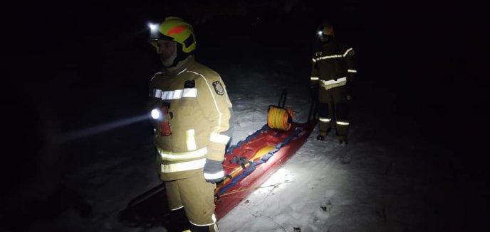 Artykuł: Na jeziorze pod Barczewem zaginął wędkarz. W akcji strażacy [ZDJĘCIA]