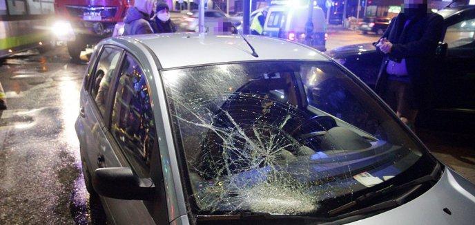 Artykuł: Potrącenie mężczyzny na ruchliwym skrzyżowaniu w Olsztynie [ZDJĘCIA]