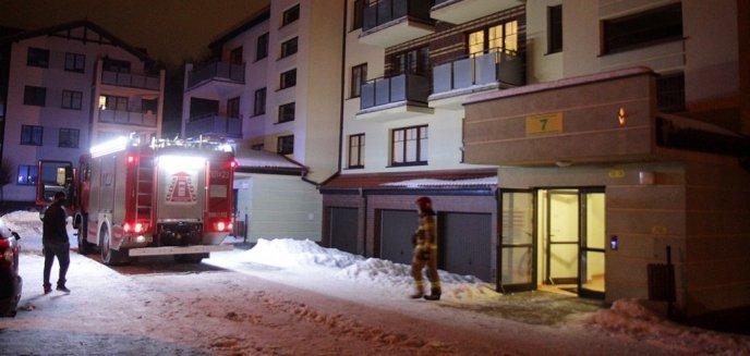 Pożar na ulicy Popiełuszki w Olsztynie. Palił się... sklejany model