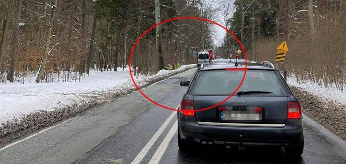Artykuł: Kierowca volkswagena wjechał do przydrożnego rowu na DK51 pod Olsztynem