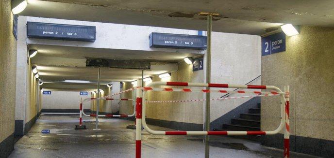 Artykuł: Kolejarze ustawili wsporniki pod peronem na stacji Olsztyn Główny [ZDJĘCIA]