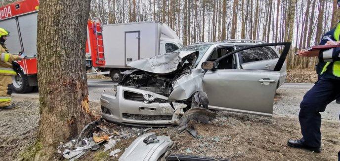 Artykuł: 62-latek uderzył w drzewo. Utrudnienia na drodze Barczewo-Jeziorany [ZDJĘCIA]