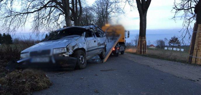 Artykuł: Tragiczny wypadek pod Olsztynem. Zginęło dwoje nastolatków [ZDJĘCIA]