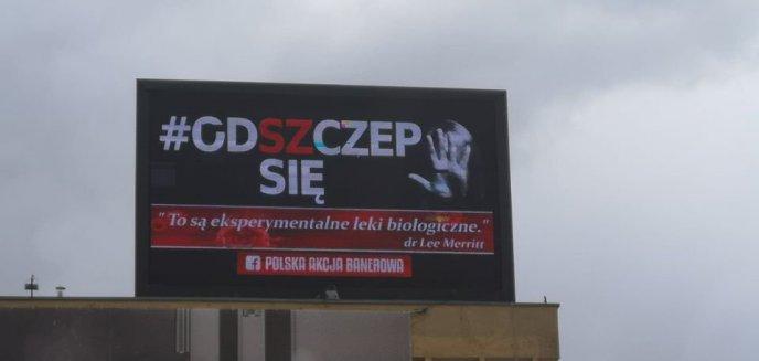 Artykuł: Koronawirus. Akcja ''Od(sz)czep się'' na telebimie w centrum Olsztyna [ZDJĘCIA]