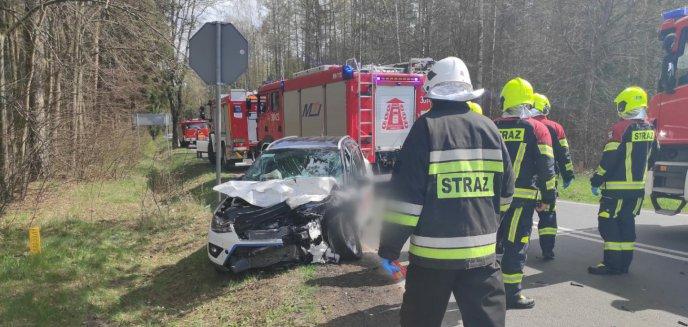 Wypadek pod Olsztynem. Zderzyły się cztery auta, którymi podróżowało 10 osób [ZDJĘCIA] [AKTUALIZACJA]