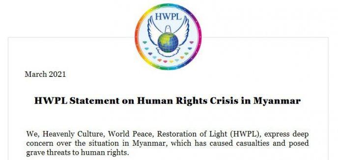 Międzynarodowa organizacja pozarządowa z siedzibą w Korei Południowej opowiada się za forum dialogu pokojowego prowadzonym przez zainteresowane strony w Mjanmie/Birmie