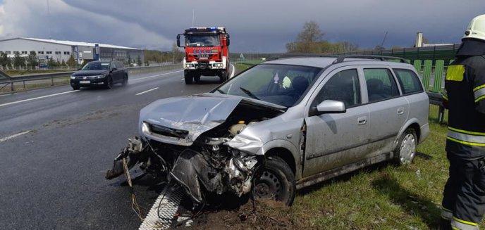 Artykuł: Groźne zdarzenie drogowe pod Olsztynem [ZDJĘCIA]