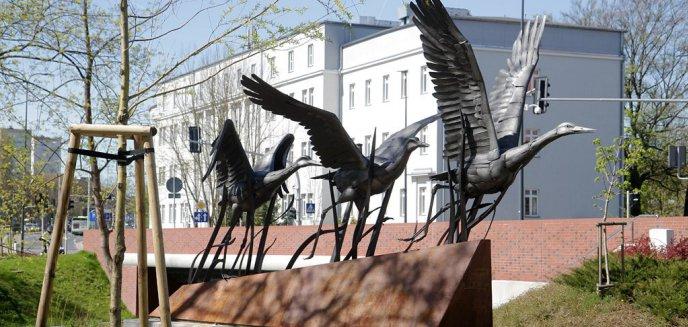 Artykuł: Nowa rzeźba w Parku Centralnym rdzewieje. Urzędnicy uspokajają