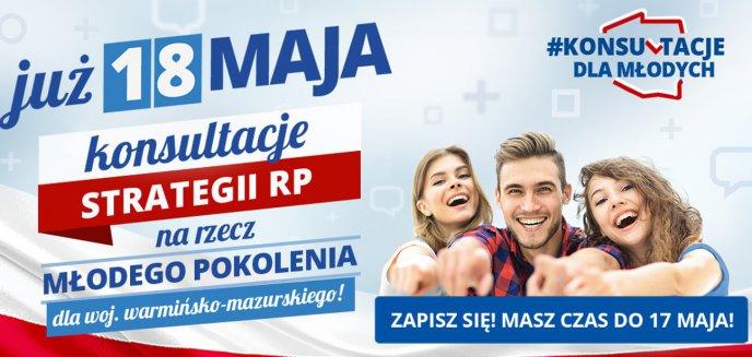 Zapisz się na konsultacje strategii dla młodzieży w woj. warmińsko-mazurskim!