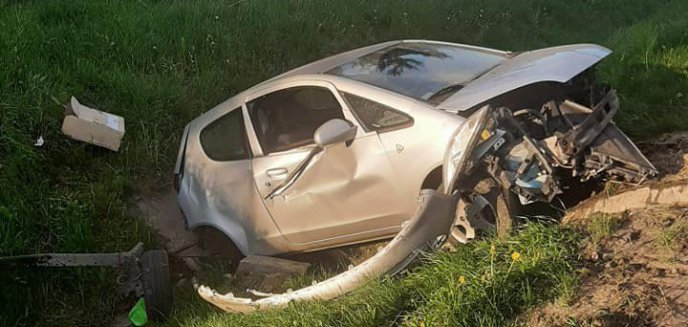 Artykuł: Wypadek na trasie Olsztyn-Barczewo [ZDJĘCIA]