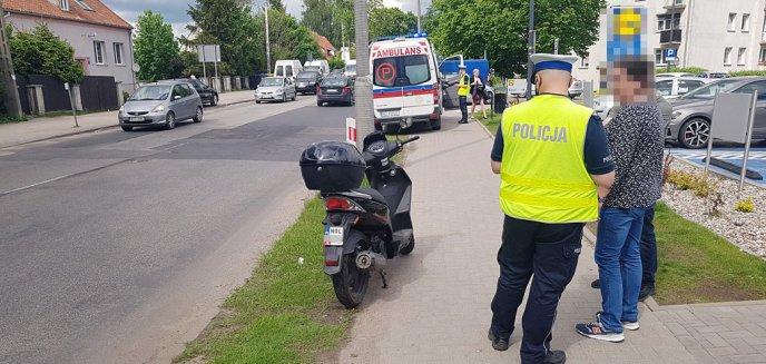 Porzucona... butelka na ulicy Jagiellońskiej w Olsztynie przyczyną wypadku [ZDJĘCIA]