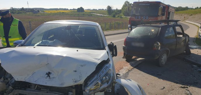 Artykuł: Wypadek pod Olsztynem. 34-latka trafiła do szpitala przez pijanego kierowcę [ZDJĘCIA]