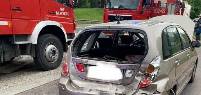 Wypadek na trasie Olsztyn-Barczewo [ZDJĘCIA]