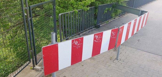 Zagrodzono fragment mostu nad Łyną w ciągu al. Niepodległości