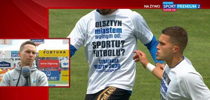 Artykuł: Stomil nadal ma nadzieję na pieniądze z miasta. Manifest na koszulkach przed meczem z Bruk-Bet Termaliką  [SKRÓT WIDEO]