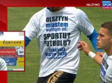 Stomil nadal ma nadzieję na pieniądze z miasta. Manifest na koszulkach przed meczem z Bruk-Bet Termaliką  [SKRÓT WIDEO]