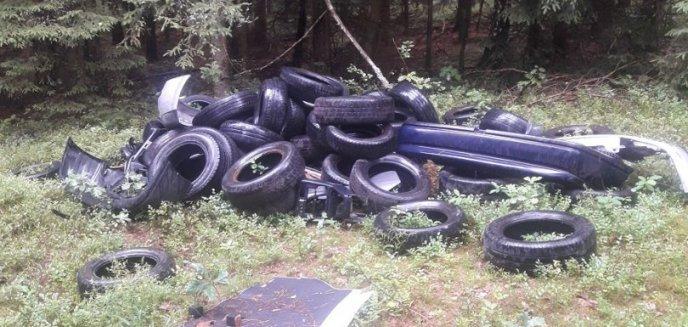 Ktoś wyrzucił do lasu pod Olsztynem kilkadziesiąt zużytych opon. Leśnicy: ''Niewiele nas już może zaskoczyć''