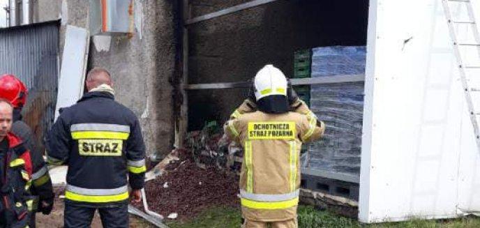 Pożar w zakładach cukierniczych ''Jutrzenka'' w Dobrym Mieście. W akcji 11 zastępów straży