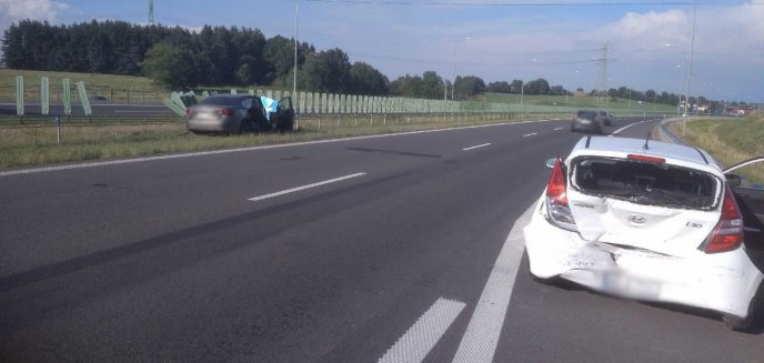 Artykuł: Groźne zdarzenie drogowe pod Wójtowem na trasie Olsztyn-Barczewo