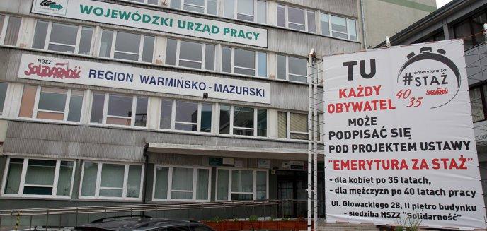 Artykuł: NSZZ ''Solidarność'' z obywatelskim projektem ustawy: ''Emerytura za staż pracy''