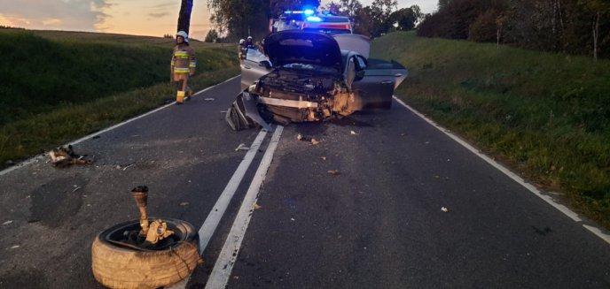 Artykuł: Wypadek drogowy pod Barczewem. Zginęły dwie kobiety [ZDJĘCIA]