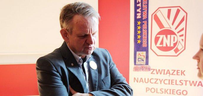 Artykuł: Dzień Edukacji Narodowej. Prezes ZNP w Olsztynie, Tomasz Branicki: ''Możemy pracować dłużej, ale za godne wynagrodzenie''
