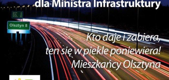 Artykuł: Olsztyn życzy Ministrowi Grabarczykowi...