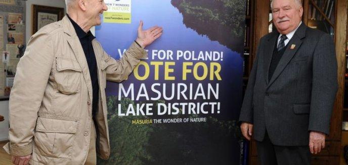 Artykuł: Lech Wałęsa aktywnie włącza się w promocję Mazur